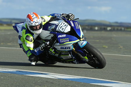 The Geordie hit the track for the first time on his new Team IMR BMW at Jurby airfield...